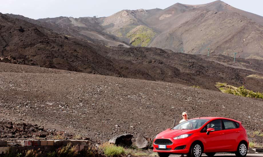 Kjøreturen opp til vulkanen ETna