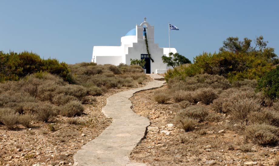 En øy som kun bestod av en kirke